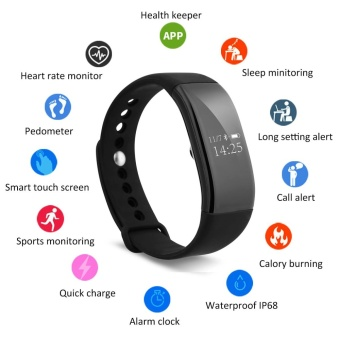 Diggro V66 Heart Rate Smart Bracelet Bluetooth 4.0 for Android IOS- intl
