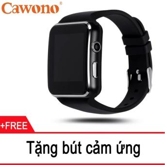 Đồng hồ thông minh Cawono X6 Màn hình Cong (Đen) + Tặng 1 bút cảm ứng
