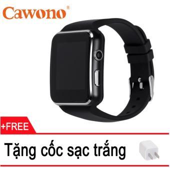 Đồng hồ thông minh Cawono X6 Màn hình Cong (Đen) + Tặng 1 cốc sạc - 8086048 , CA203ELAA6PHD7VNAMZ-12332328 , 224_CA203ELAA6PHD7VNAMZ-12332328 , 500000 , Dong-ho-thong-minh-Cawono-X6-Man-hinh-Cong-Den-Tang-1-coc-sac-224_CA203ELAA6PHD7VNAMZ-12332328 , lazada.vn , Đồng hồ thông minh Cawono X6 Màn hình Cong (Đen) + Tặng