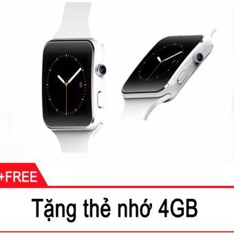 Đồng hồ thông minh Cawono X6 Màn hình Cong (Trắng) + Tặng thẻ nhớ 4GB