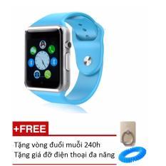 Đồng hồ thông minh Smart Watch A1 gắn sim độc lập (Xanh dương) + Tặng 1 vòng đuổi muỗi 240h và 1 giá đỡ điện thoại
