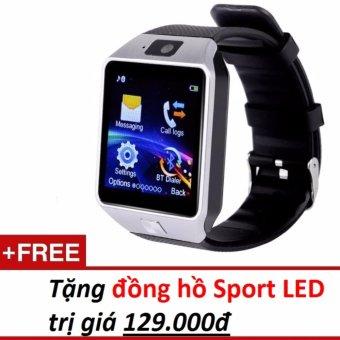 cần mua Đồng hồ thông minh Smart Watch Uwatch DZ09 (Vàng) + Tặng đồng hồ Sport Led  159.000 đ
