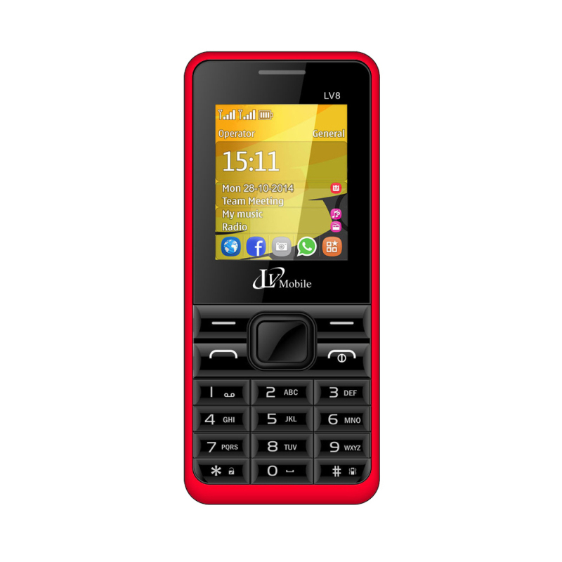 ĐTDĐ LV8 2 SIM (Đỏ)