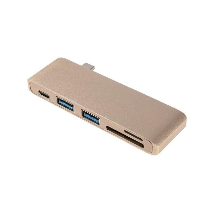 Bảng giá ERA 5 in 1 5Ports Aluminum Multifunction TYPE-C Card Reader & Hub USB Fast Charge - intl Phong Vũ