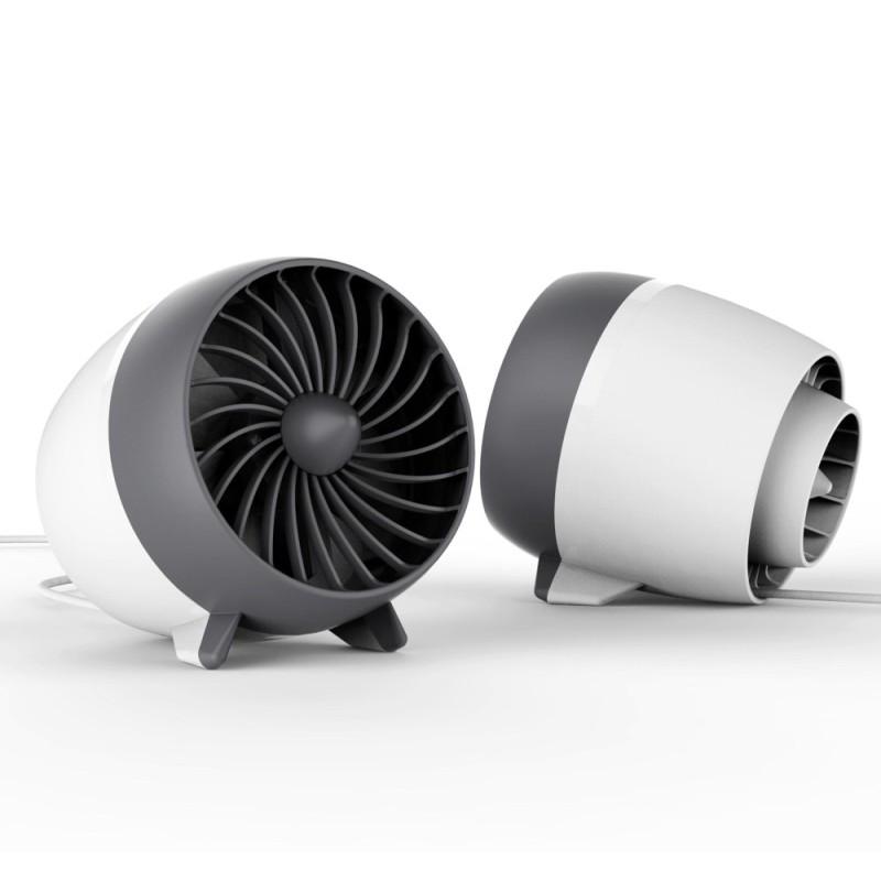 Bảng giá FEYREE Portable USB Fan For Desktop 2 Gear Powered Desk Mini USB Cooler White - intl Phong Vũ
