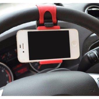 Giá đỡ giữ điện thoại định vị tay lái ô tô vô lăng