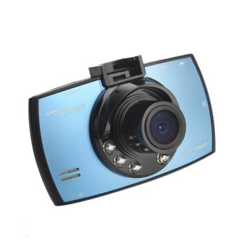 HD 1080P LCD Car DVR Dash Camera Crash Cam G-sensorNightVisionHDMIBlue - intl