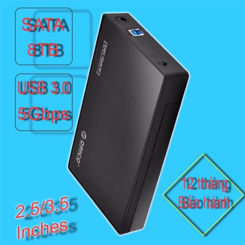 Bảng giá HDD box 2.5/3.5 inches SATA, có hỗ trợ nguồn ngoài ORICO 3588US3-BK (màu đen) Phong Vũ