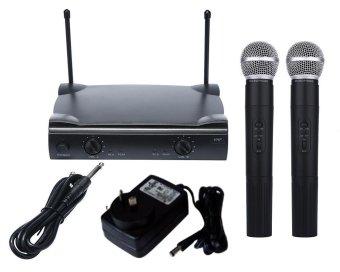 Hệ thống micrô không dây dual hiệu leegoal với mic không dây loạiSHURE Wireless UT4 +2 MIC - quốc tế