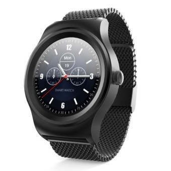 Mua ngay Heart Rate Monitor Bluetooth Call Anti-Lost Smart 01 Steel SmartWatch Black - intl So giá