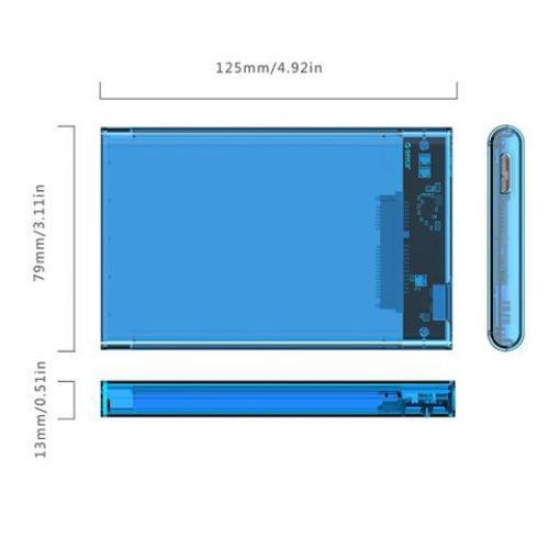 Hình ảnh Hộp đựng ổ cứng 2.5 inch ORICO 2139U3 (Xanh lam)