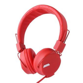 Kanen Noise Cancelling Adjustable Headset for Smartphone (Red) -intl