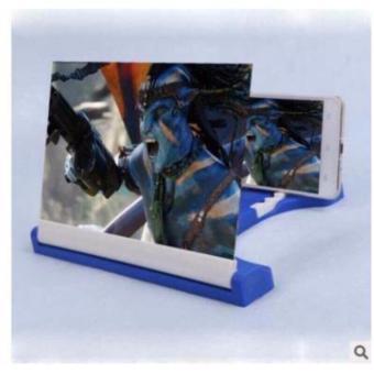 Kính 3D phóng to màn hình điện thoại Smartphone F1 (không viền đen)