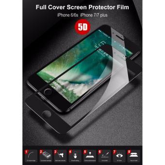 Kính Cường Lực Full Màn 5D cho iPhone 6Plus/ 6s Plus Đen NguyênHộp)