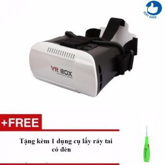 Kính thực tế ảo VR Box 3D + Tặng kèm 1 dụng cụ lấy ráy tai có đèn