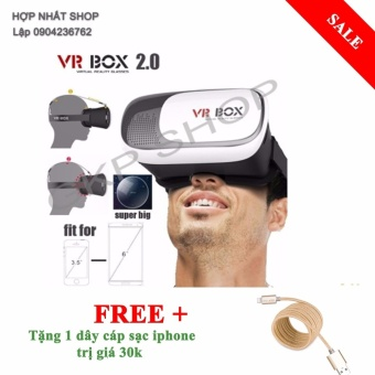 Kính thực tế ảo VR Box thế hệ thứ 2 (Đen phối trắng) +dây sạciphone - 8401645 , OE680ELAA5OWNZVNAMZ-10439320 , 224_OE680ELAA5OWNZVNAMZ-10439320 , 119000 , Kinh-thuc-te-ao-VR-Box-the-he-thu-2-Den-phoi-trang-day-saciphone-224_OE680ELAA5OWNZVNAMZ-10439320 , lazada.vn , Kính thực tế ảo VR Box thế hệ thứ 2 (Đen phối trắng)