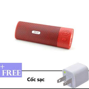 Loa Bluetooth đa năng JY-11 (Đỏ) + Tặng kèm cốc sạc
