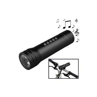 Loa đèn pin âm nhạc MP3 Player + loa + đèn pin (Đen)
