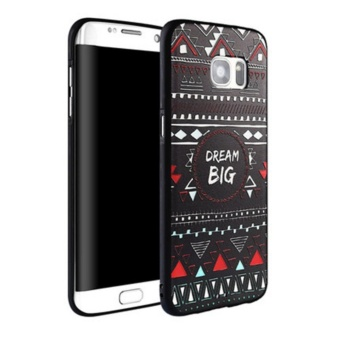 Luxury 3D Relief Sculpture Soft TPU Case Cover For Samsung Galaxy S6 Edge - intl