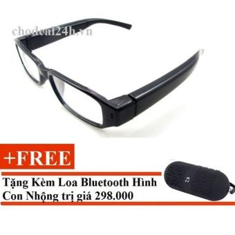 Mắt kính camera mini thông minh cho deal 24h (đen) + Tặng Loa mini XC10
