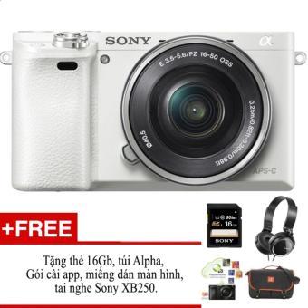 Máy ảnh không gương lật Sony A6000 + Kit 16-50 - hàng phân phốichính hãng