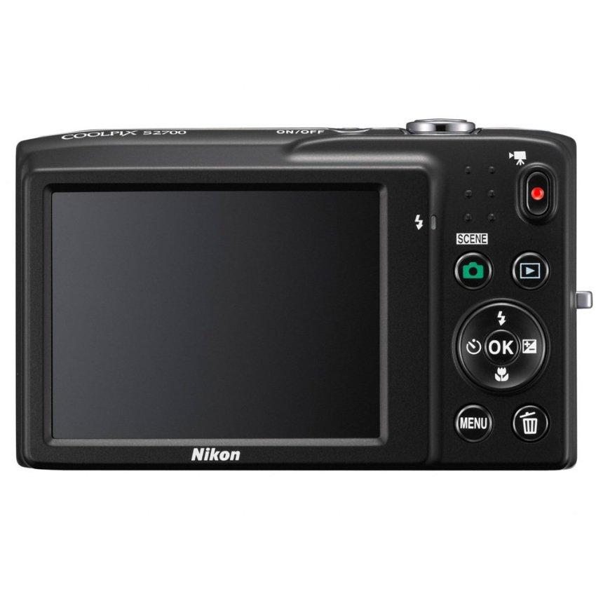 Máy ảnh KTS Nikon Coolpix S2700 16MP và Zoom quang 6x (Đen)