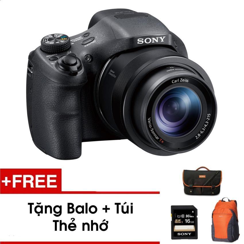 Máy ảnh kỹ thuật số HX350 với zoom quang học 50x (Đen) - Tặng thẻ nhớ - Túi - Balo du lịch Sony - Hàng phân phối chính hãng