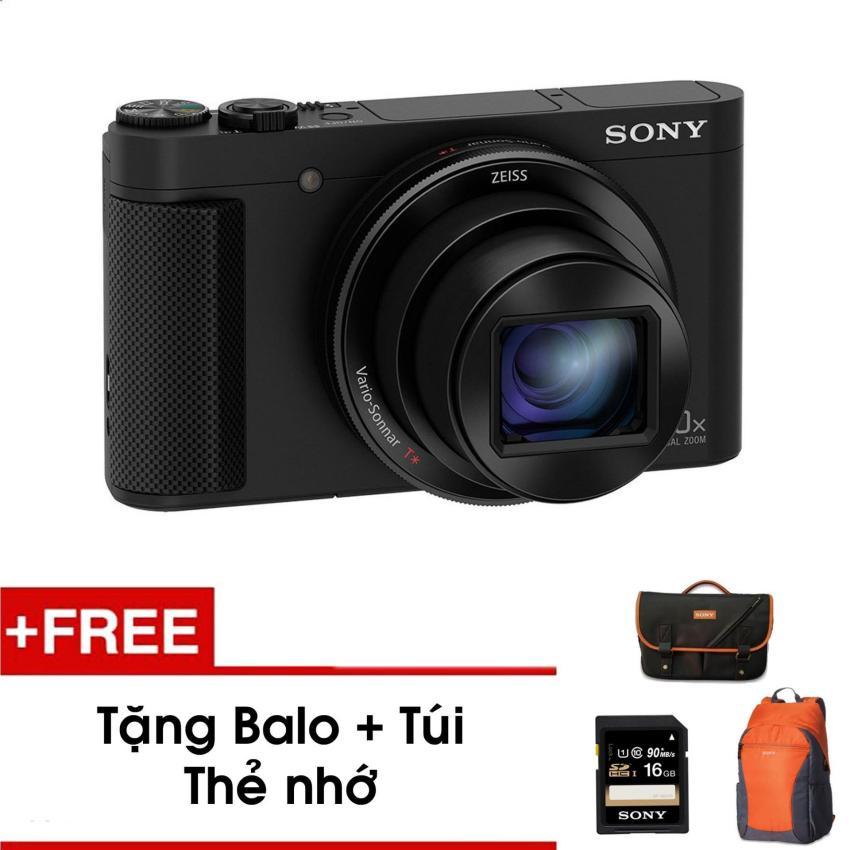Máy ảnh kỹ thuật số HX90V với zoom quang học 30x (Đen) - Tặng thẻ nhớ - Túi - Balo du lịch Sony - Hàng phân phối chính hãng