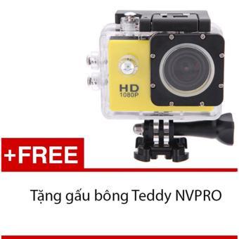 Máy ảnh Mini chống nước chuẩn FULL HD (Vàng) + Tặng 1 gấu bông siêukute NVPRO