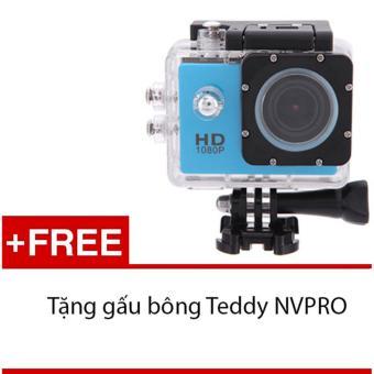 Máy ảnh Mini chống nước chuẩn FULL HD (Xanh) + Tặng 1 gấu bông siêukute NVPRO