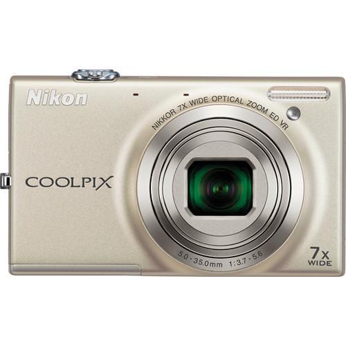 Giá Máy ảnh Nikon Coolpix S6100 16 MP và zoom quang học 7x (Bạc)  Tại 9AM(Tp.HCM)