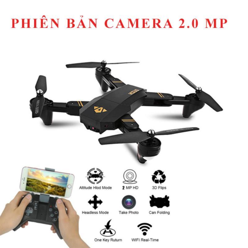 Máy bay VISUO XS809HW- truyền hình ảnh về điện thoại, gấp gọn gàng bỏ túi, camera 2.0MP FPV HD