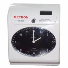 So sánh Máy chấm công đồng hồ thẻ giấy với mặt đồng hồ Analog LCD Metron MD20B (màu trắng)