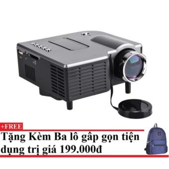 Máy chiếu mini Projector LED UC28 (đen) + Tặng kèm balo du lịch gấp gọn