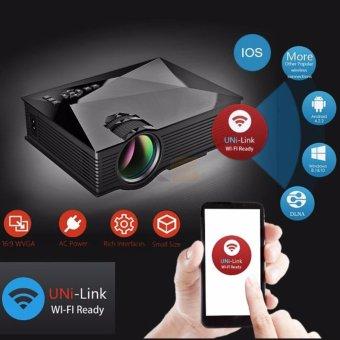 Tiết kiệm mua Máy chiếu SMP UC46 100 inch hỗ trợ WIFI Micracast có loa ngoài