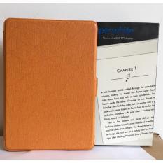 Mẫu sản phẩm Máy Đọc Sách All-New Kindle PaperWhite (2018) và Bao da cam