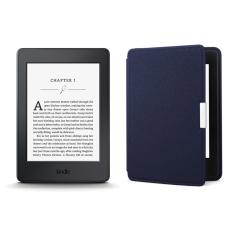 Giá Máy Đọc Sách Kindle PaperWhite 2017 và Bao da (Xanh Đậm Inox)  Tại MayDocSach