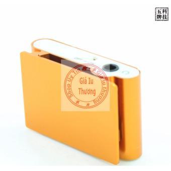 Máy nghe nhạc MP3 ( vàng) kẹp áo vỏ nhôm+ tai nghe+ cáp sạc
