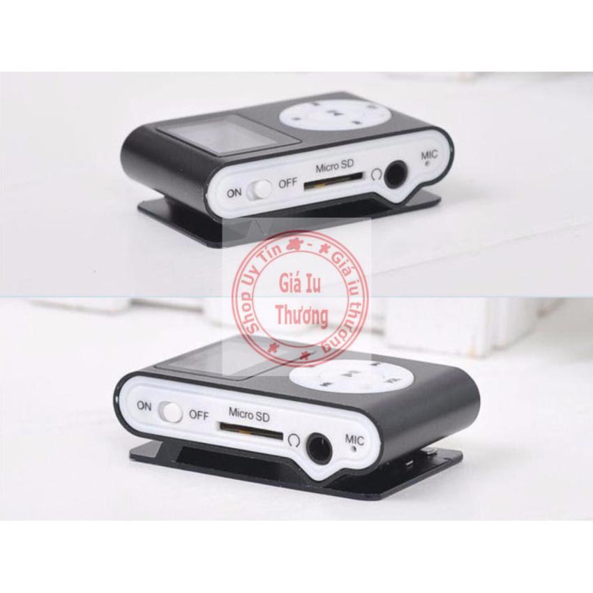 Máy nghe nhạc MP3 vỏ nhôm,có màn hình LCD kiểu kẹp(màu tùy ý) + cáp sạc truyền dữ liệu dùng...