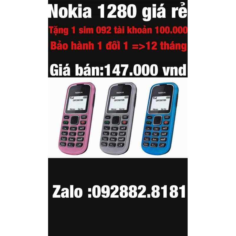 Máy Nokia 1280 tặng kèm sim ĐẦU 10 SỐ