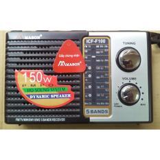 Máy radio chuyên dụng Mason ICF-F100 (Đen)