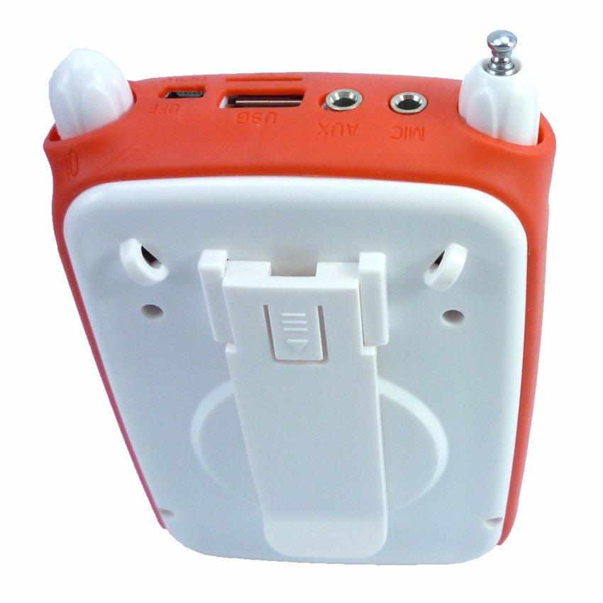 Máy trợ giảng kiêm máy nghe nhạc Aibo UN-72 (Trắng phối đỏ)