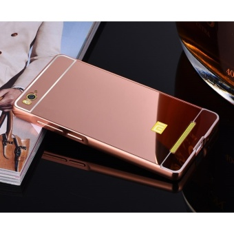 Giá ưu đãi Metal Bumper and Mirror PC Back Cover For Xiao mi 4i - intl mới nhất