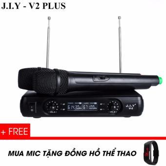 Micro không dây J.I.Y V2Plus - Tặng đồng hồ Silicon