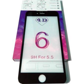 MIẾNG DÁN CƯỜNG LỰC 4D FULL MÀN HÌNH CHO IPHONE 6 PLUS, 6S PLUS (MÀU ĐEN )