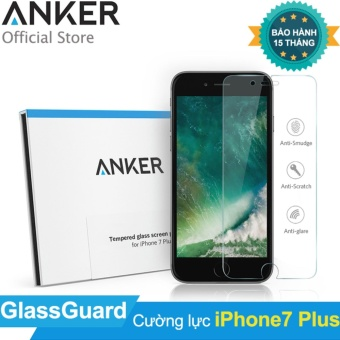 Miếng dán cường lực ANKER GlassGuard cho iPhone 7 Plus (Trong suốt)