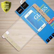 Miếng dán kính cường lực Xiaomi Redmi Note 4X hiệu Hoco Full màn hình viền màu (Gold)