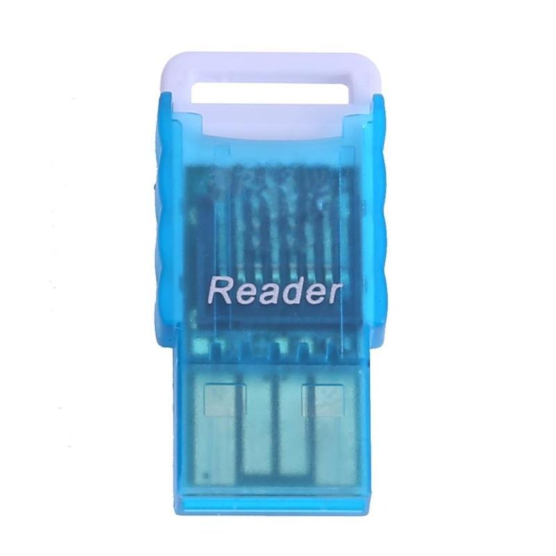 Bảng giá Mini Portable Micro SD to USB 2.0 TF Memory Card Adapter Reader(Blue) - intl Phong Vũ