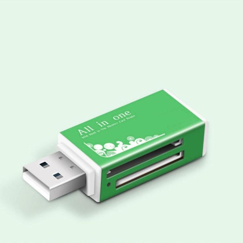 Bảng giá Moonar New USB 2.0 All in 1 Multi Memory Card Reader for Micro SD SDHC TF M2 MMC MS PRO ( Green ) - intl Phong Vũ