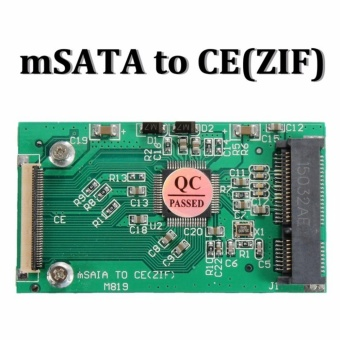 mSATA PCI-E SSD To 40 Pin ZIF CE Cable Adapter Converter Card forMac PC - intl
